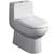"Fresca Antila One-Piece Dual Flush Toilet, Soft Close Seat, Elongated Bowl, 0.8/1.6 GPF Capacity, 15-1/4""W x 26-1/4""D x 26-5/8""H"