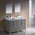 "48"" Gray Double Sink Vanity Set with Mirror"