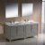 "72"" Gray Double Sink Vanity Set with Mirror"
