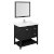 "36"" Black Vanity Set Product Angle View"