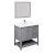 "36"" Gray Vanity Set Product Angle View"