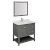 """Regal 36"""" Gray Vanity Set Product Angle View"""