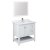 """36"""" White Vanity Set Product Angle View"""
