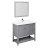 "42"" Gray Vanity Set Product Angle View"