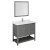 """42"""" Regal Gray Vanity Set Product Angle View"""