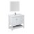 """42"""" White Vanity Set Product Angle View"""