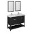 "48"" Black Vanity Set Product Angle View"