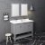 "Fresca Manchester 48"" Gray Traditional Double Sink Bathroom Vanity Set w/ Mirrors, Vanity: 48"" W x 20-2/5"" D x 34-4/5"" H"