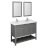 "48"" Regal Gray Vanity Set Product Angle View"