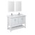 "48"" White Vanity Set Product Angle View"