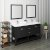 "Fresca Manchester 60"" Black Traditional Double Sink Bathroom Vanity Set w/ Mirrors, Vanity: 60"" W x 20-2/5"" D x 34-4/5"" H"