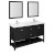 "60"" Black Vanity Set Product Angle View"