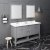 "Fresca Manchester 60"" Gray Traditional Double Sink Bathroom Vanity Set w/ Mirrors, Vanity: 60"" W x 20-2/5"" D x 34-4/5"" H"