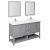 "60"" Gray Vanity Set Product Angle View"