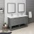 "Fresca Manchester Regal 60"" Gray Wood Veneer Traditional Double Sink Bathroom Vanity Set w/ Mirrors, Vanity: 60"" W x 20-2/5"" D x 34-4/5"" H"