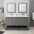 "60"" Regal Gray Vanity Set Front View"