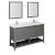 "60"" Regal Gray Vanity Set Product Angle View"