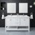 "60"" White Vanity Set Front View"