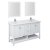 "60"" White Vanity Set Product Angle View"