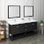 "Fresca Manchester 72"" Black Traditional Double Sink Bathroom Vanity Set w/ Mirrors, Vanity: 72"" W x 20-2/5"" D x 34-4/5"" H"