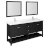 "72"" Black Vanity Set Product Angle View"