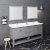 "Fresca Manchester 72"" Gray Traditional Double Sink Bathroom Vanity Set w/ Mirrors, Vanity: 72"" W x 20-2/5"" D x 34-4/5"" H"