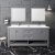 "72"" Gray Vanity Set Front View"