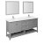 "72"" Gray Vanity Set Product Angle View"