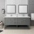 "72"" Regal Gray Vanity Set Front View"