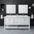 "72"" White Vanity Set Front View"