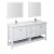 "72"" White Vanity Set Product Angle View"