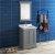 "Fresca Windsor 24"" Gray Textured Traditional Bathroom Vanity Set w/ Mirror, Base Cabinet: 24"" W x 20-3/8"" D x 34-5/16"" H"