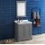 "Fresca Windsor 30"" Gray Textured Traditional Bathroom Vanity Set w/ Mirror, Base Cabinet: 30"" W x 20-3/8"" D x 34-5/16"" H"