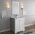 "Fresca Windsor 30"" Matte White Traditional Bathroom Vanity Set w/ Mirror, Base Cabinet: 30"" W x 20-3/8"" D x 34-5/16"" H"