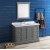"Fresca Windsor 48"" Gray Textured Traditional Bathroom Vanity Set w/ Mirror, Base Cabinet: 48"" W x 20-3/8"" D x 34-5/16"" H"