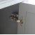 """Windsor 48"""" Gray Door Hinge View"""