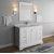 "Fresca Windsor 48"" Matte White Traditional Bathroom Vanity Set w/ Mirror, Base Cabinet: 48"" W x 20-3/8"" D x 34-5/16"" H"
