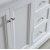 "Windsor 48"" Matte White Decorative Hardware"