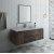 """Fresca Formosa 54"""" Wall Hung Modern Bathroom Vanity Set w/ Mirror, Base Cabinet: 54"""" W x 20-3/8"""" D x 20-5/16"""" H"""