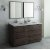 "Fresca Formosa 60"" Floor Standing Double Sink Modern Bathroom Vanity Set w/ Mirrors, Base Cabinet: 60"" W x 20-3/8"" D x 34-7/8"" H"