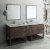 "Fresca Formosa 84"" Floor Standing Double Sink Modern Bathroom Vanity Set w/ Open Bottom & Mirrors, Base Cabinet: 84"" W x 20-3/8"" D x 34-7/8"" H"