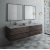 "Fresca Formosa 72"" Wall Hung Double Sink Modern Bathroom Vanity Set w/ Mirrors, Base Cabinet: 72"" W x 20-3/8"" D x 20-5/16"" H"