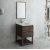 "Fresca Formosa 24"" Floor Standing Modern Bathroom Vanity Set w/ Open Bottom & Mirror, Base Cabinet: 24"" W x 20-3/8"" D x 34-7/8"" H"