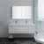 "48"" White Vanity Set Front View"
