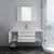 "48"" White Vanity Set Opened View"