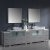 "108"" Gray Double Sink Vanity Set with Mirror"