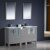"60"" Gray Double Sink Vanity Set w/ Mirror"