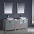 "72"" Gray Double Sink Vanity Set with Mirror"