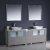 "84"" Gray Double Sink Vanity Set with Mirror"