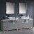 "96"" Gray Double Sink Vanity Set with Mirror"
